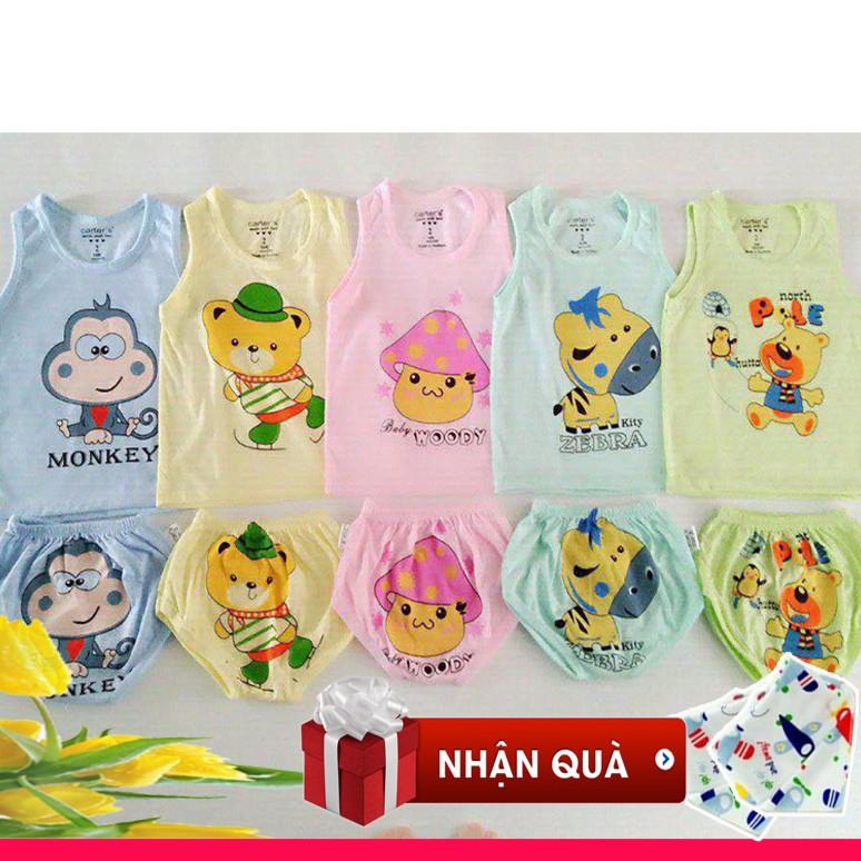 Combo 5 bộ đồ ba lỗ chip cotton cho bé gái tặng 1 khăn yếm tam giác - 9948034 , 1054415966 , 322_1054415966 , 160000 , Combo-5-bo-do-ba-lo-chip-cotton-cho-be-gai-tang-1-khan-yem-tam-giac-322_1054415966 , shopee.vn , Combo 5 bộ đồ ba lỗ chip cotton cho bé gái tặng 1 khăn yếm tam giác