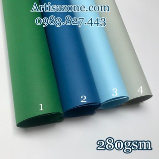 Giấy mỹ thuật kích thước 70cm x 100cm (định lượng 280gsm) – Làm Love box, nền album, scrapbook – Set 04 tờ
