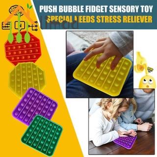limad 1x Push Pop Pop Bubble Sensory Fidget Toy Stress Relief Special Needs Silent Classroom