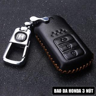 [Freeship đơn 250k] Móc treo chìa khóa, Bao da chìa khóa ô tô Honda 3 nút cao cấp mới nhất 2019 thumbnail