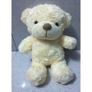 Gấu bông # Thú nhồi bông # Gấu lông xoắn hoa hồng 25cm mũi bị trầy.