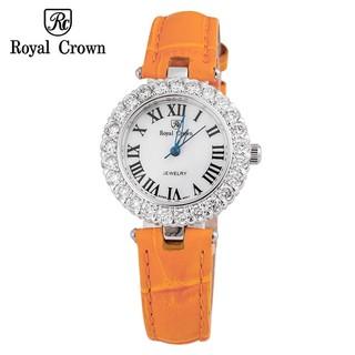 Đồng hồ nữ chính hãng Royal Crown 6305 dây da cam thumbnail