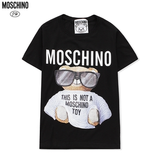 MOSCHINO T-shirt Unisex Cotton Tee Plus Size Round Neck Short Sleeve C08988