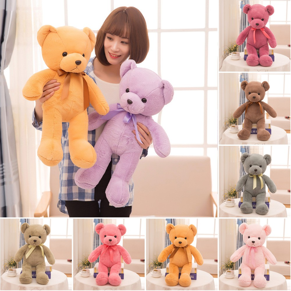 35/45cm Cute Cartoon Bear Soft Plush Doll Girls Kids Toys Birthday Gift Present
