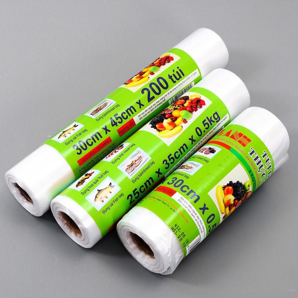 Combo 3 cuộn túi đựng thực phẩm HDPE An Lành