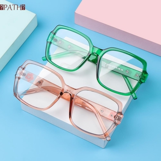 PATH Fashion Anti-Blue Light Glasses Computer Ultra Light Frame Flowers Eyeglasses Women Portable Oversized Square Vintage Eye Protection