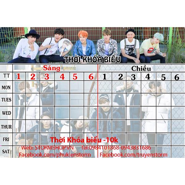 THời khóa biểu BTS