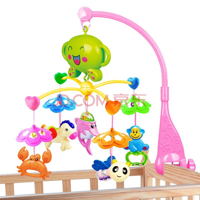 Đồ chơi treo nôi cũi xoay phát nhạc kèm xúc xắc cho bé sơ sinh