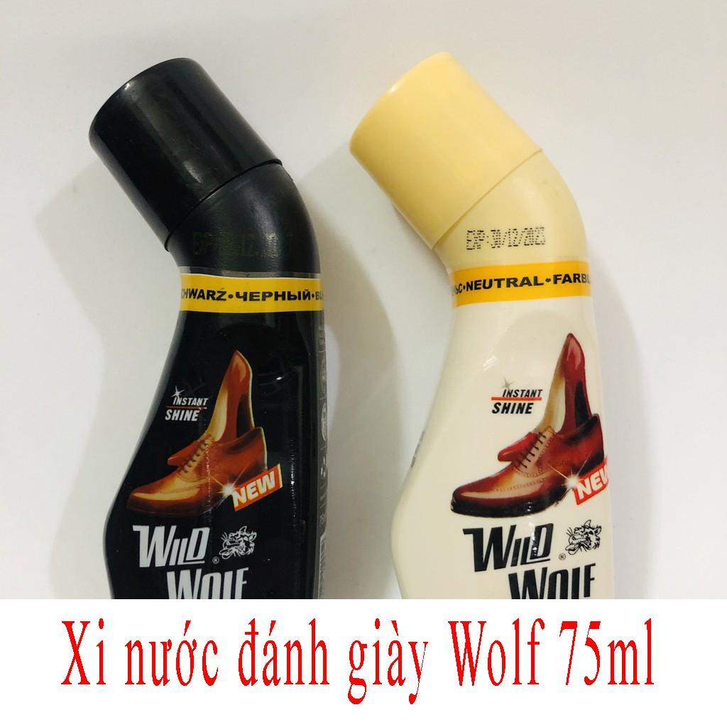 Xi nước đánh giày Wolf 75ml   Xi đánh giày 75ml  đánh bóng giày da