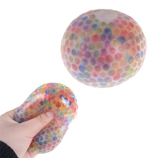 adore Creative Spongy Rainbow Ball Toy Squeezable Stress Relif Squishy Toy Stress craving