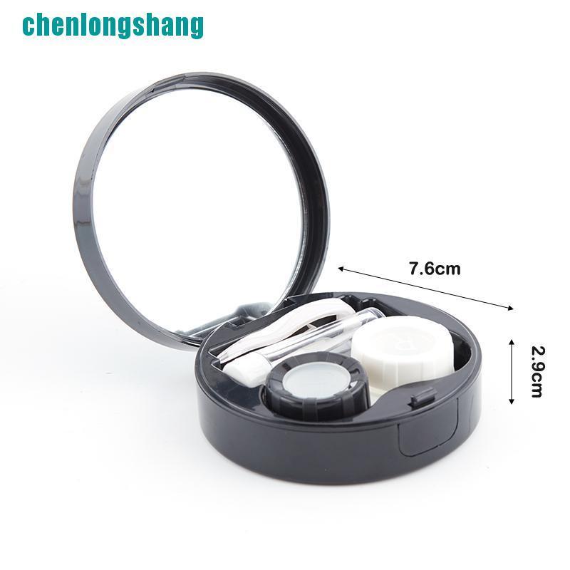 【ang】Marble Contact Lens Contact Lens Case Portable Travel Women Contact Lenses Box