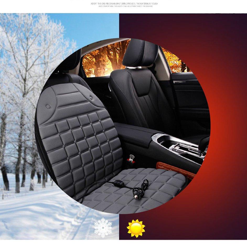 S+Car Chair Body Heat Mat Seat Cushion Neck Pain Lumbar Support Pad Back