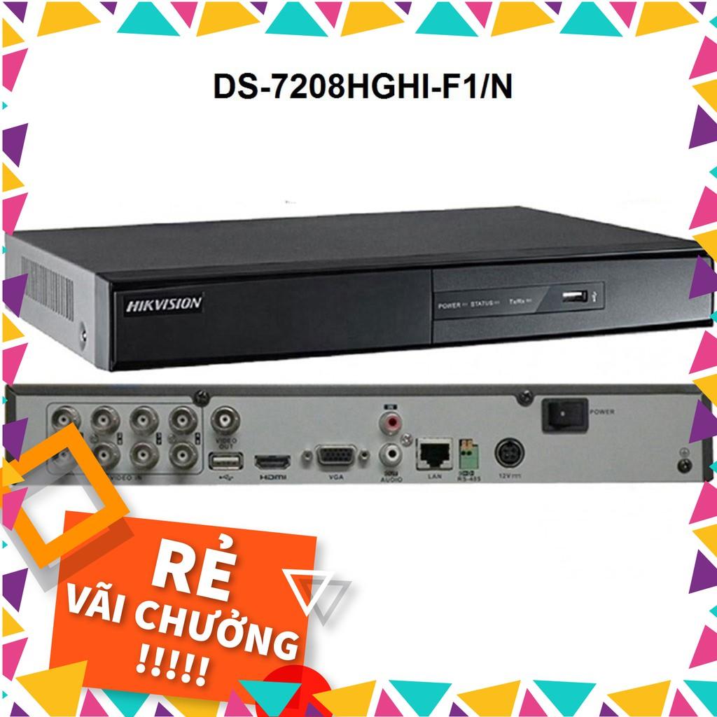 Đầu ghi hình 8 kênh Turbo HD 3.0 Hikvision DS-7208HGHI-F1/N  - Hàng chính hãng 100% - C