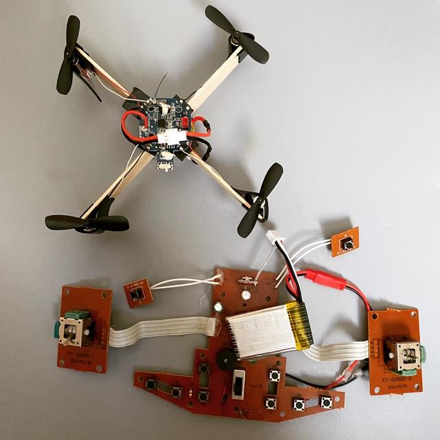 Máy bay điều khiển mini quad drone, flycam & tay tx tự thực hành. Loại dùng pin 1s 3.7vol
