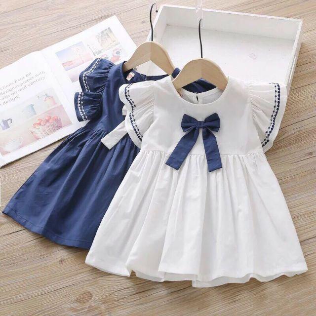 [H195] Váy Nơ Cánh bé bé gái 8-18kg