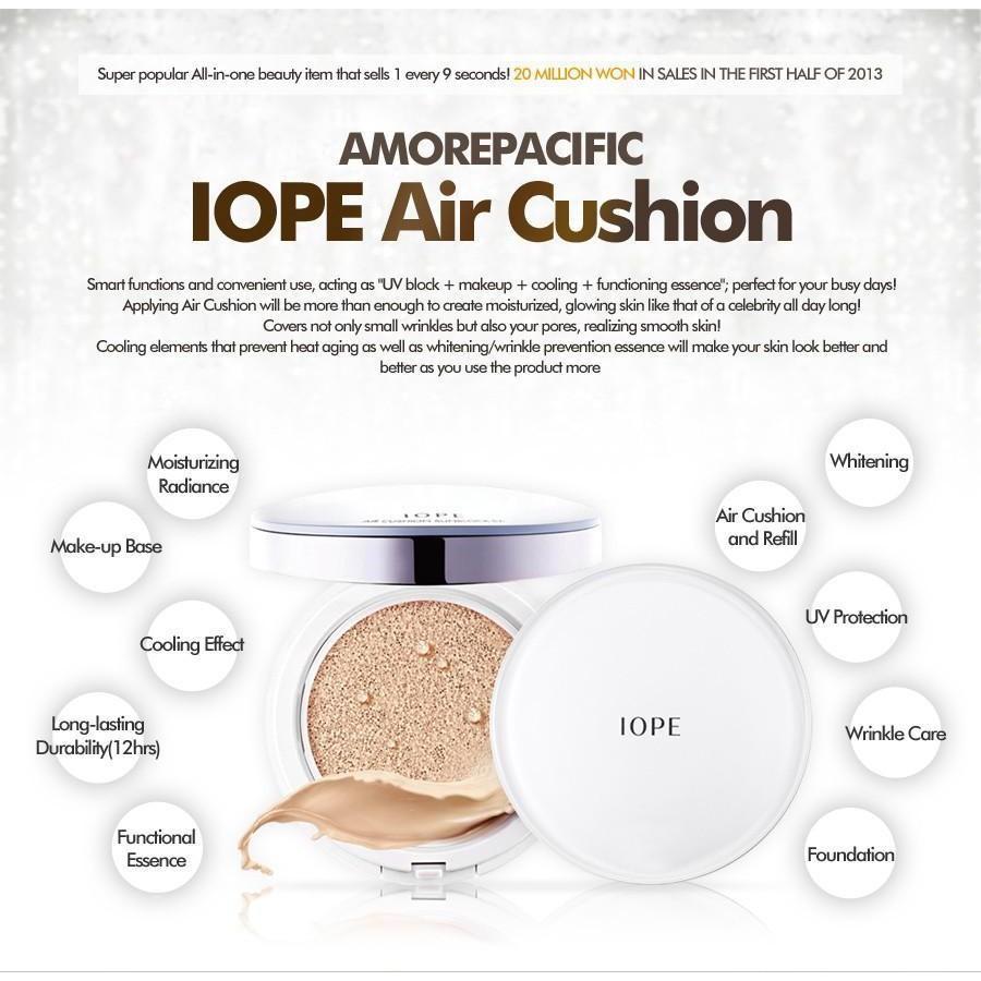 Phấn nước Iope Air Cushion Cover SPF50+ PA+++ ( Không kèm lõi) - 2975345 , 1053488174 , 322_1053488174 , 1260000 , Phan-nuoc-Iope-Air-Cushion-Cover-SPF50-PA-Khong-kem-loi-322_1053488174 , shopee.vn , Phấn nước Iope Air Cushion Cover SPF50+ PA+++ ( Không kèm lõi)