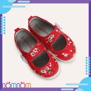 [HOT] Giày búp bê cho bé gái quai dán NomNom EPG1914 Đỏ