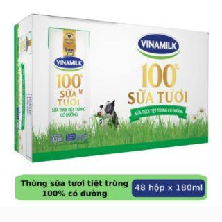 Thùng Sữa Tươi VINAMILK 100% 180ML ĐỦ LOẠI