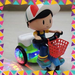 [Siêu rẻ] Bộ đồ chơi em bé đạp xe quay nhạc xoay 360 độ