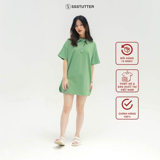 Áo Polo tay lỡ nữ SSStutter 2 màu chất 100% Cotton Oversize UNI TEE thumbnail
