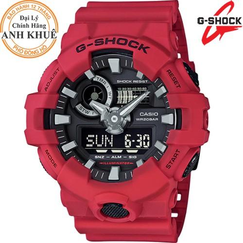 Đồng hồ nam dây nhựa G-SHOCK chính hãng Casio Anh Khuê GA-700-4ADR