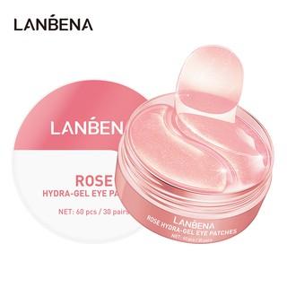 Hình ảnh Set 60 mặt nạ LANBENA collagen hoa hồng chống nếp nhăn cho mắt-0