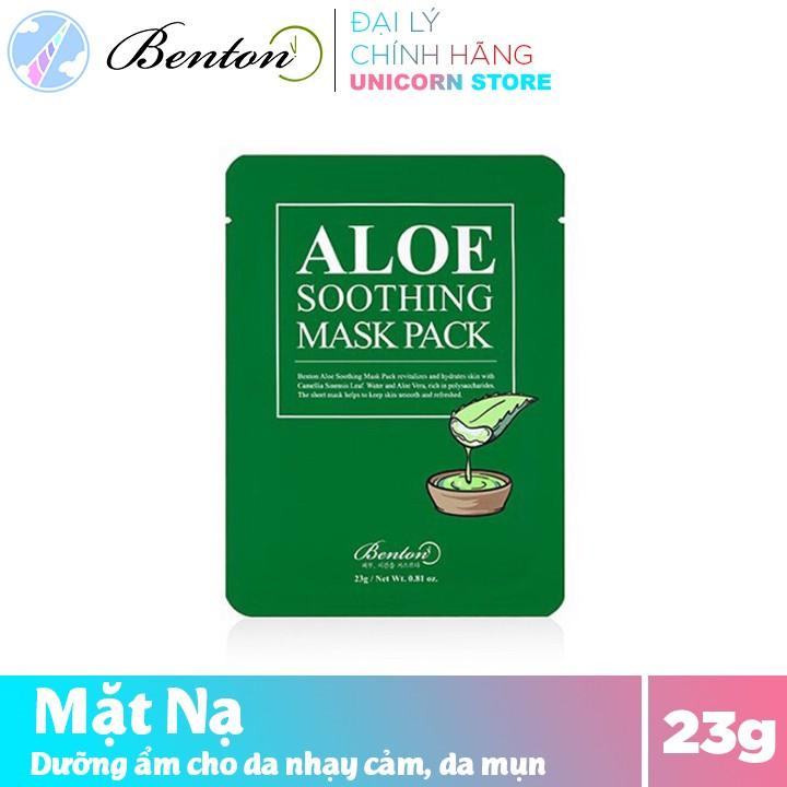 Mặt Nạ Dưỡng Ẩm Da Nhạy Cảm , Da Mụn Benton Aloe Soothing Mask Pack 23g