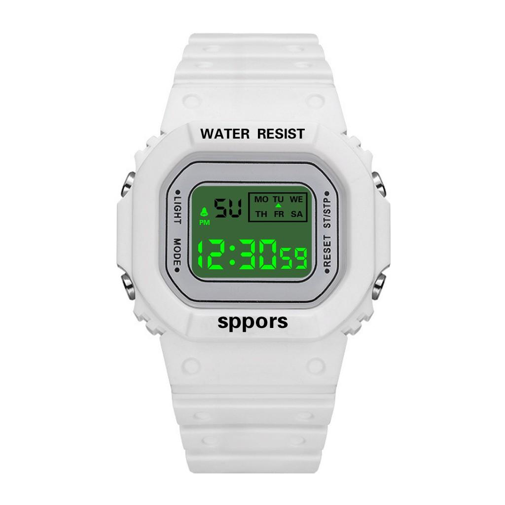 Đồng hồ thể thao nữ⚜️SIÊU HOT⚜️dây silicon cực đẹp S009 đồng hồ điện tử
