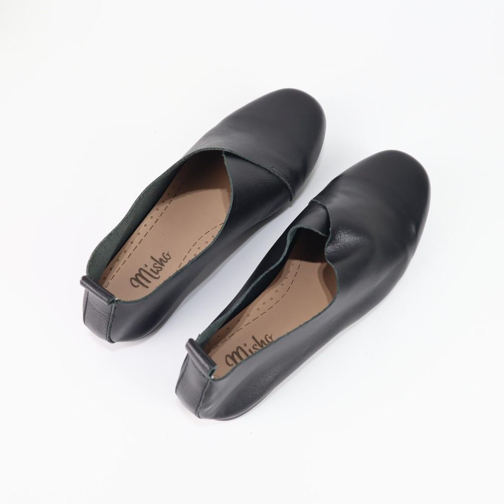Giày mọi đế bằng da thật Misho 1124