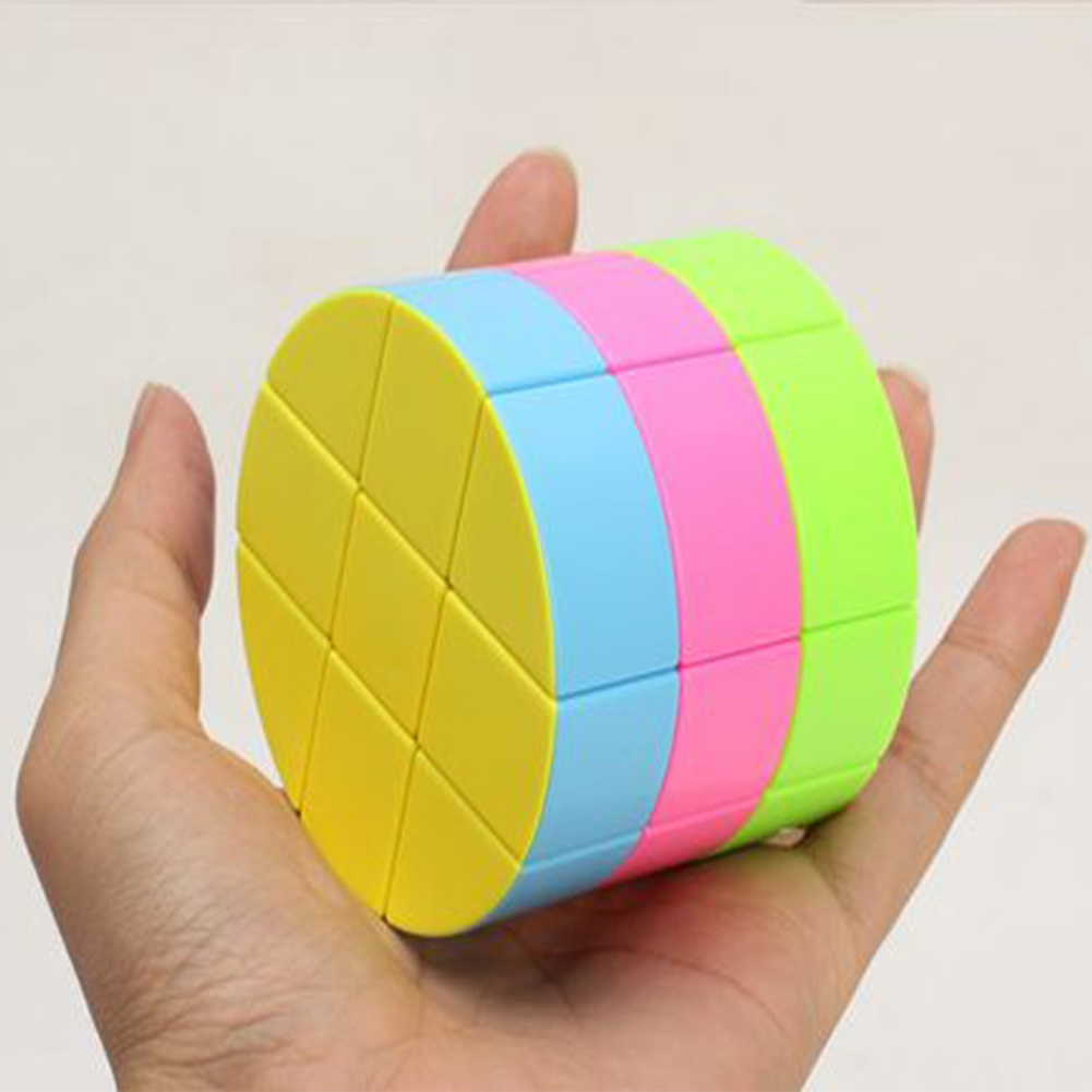 High Quality 3x3 Cylinder Magic Cube Speed Toy Colorful