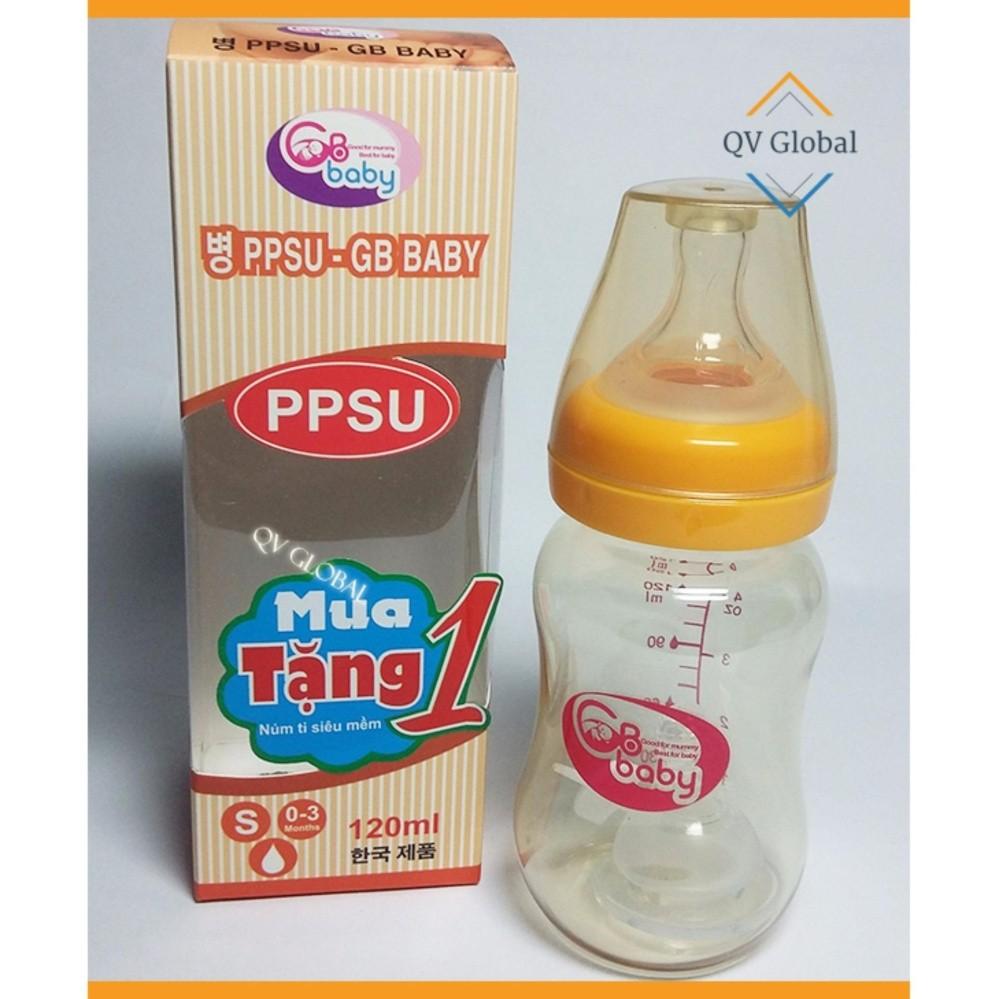 Bình sữa nhựa PPSU GB-Baby 120ml Hàn Quốc - Tặng 1 núm ti siêu mềm - 3021134 , 324267790 , 322_324267790 , 164000 , Binh-sua-nhua-PPSU-GB-Baby-120ml-Han-Quoc-Tang-1-num-ti-sieu-mem-322_324267790 , shopee.vn , Bình sữa nhựa PPSU GB-Baby 120ml Hàn Quốc - Tặng 1 núm ti siêu mềm