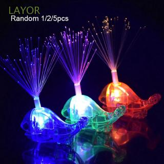 LAYOR 1/2/5Pcs Random color Development Kids Christmas Gift Glow Beams Halloween Party Gadgets Bright Whale Finger Light