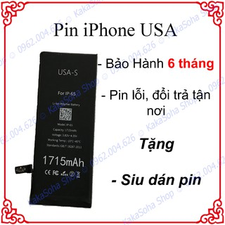 Pin iPhone USA cho iphone 4, 4s, 5, 5s, 5c, 5se, 6, 6plus, 6s, 6s plus, 7, 7plus, 8, 8 plus