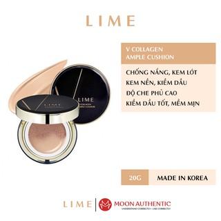 Phấn Nước Cho Da Khô Lime Xanh V Collagen Ample Cushion Hàn Quốc thumbnail