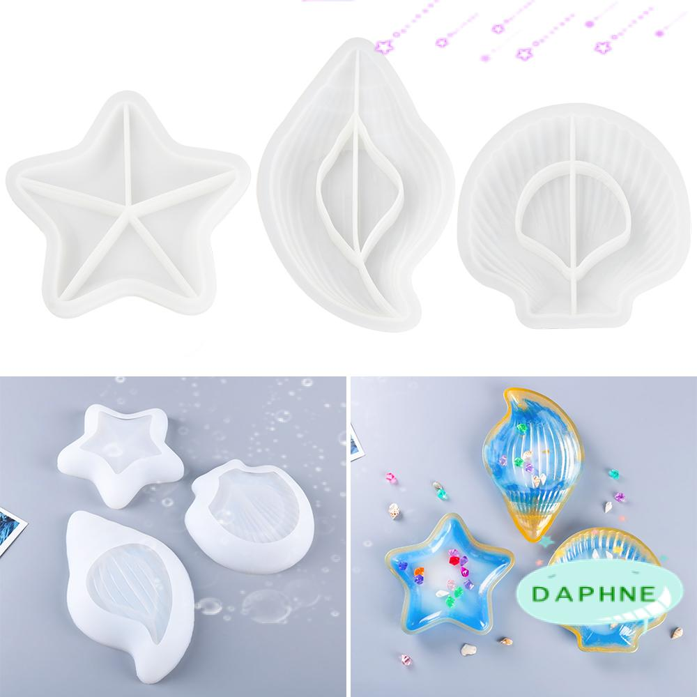 DAPHNE Table Decoration Storage Box Molds Jewelry Making Tool Shell Silicone Mould Starfish Conch Molds Handmade Tools DIY Epoxy Resin Jewelry Case Making Props|Glue