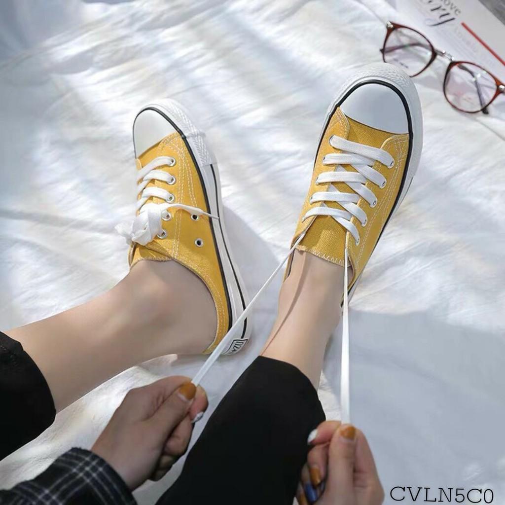 [Mã WSTOPT9 hoàn 30K xu đơn từ 150K] Giày Sục Sục Thể thao CV gót sao lười 3 màu cực xinh