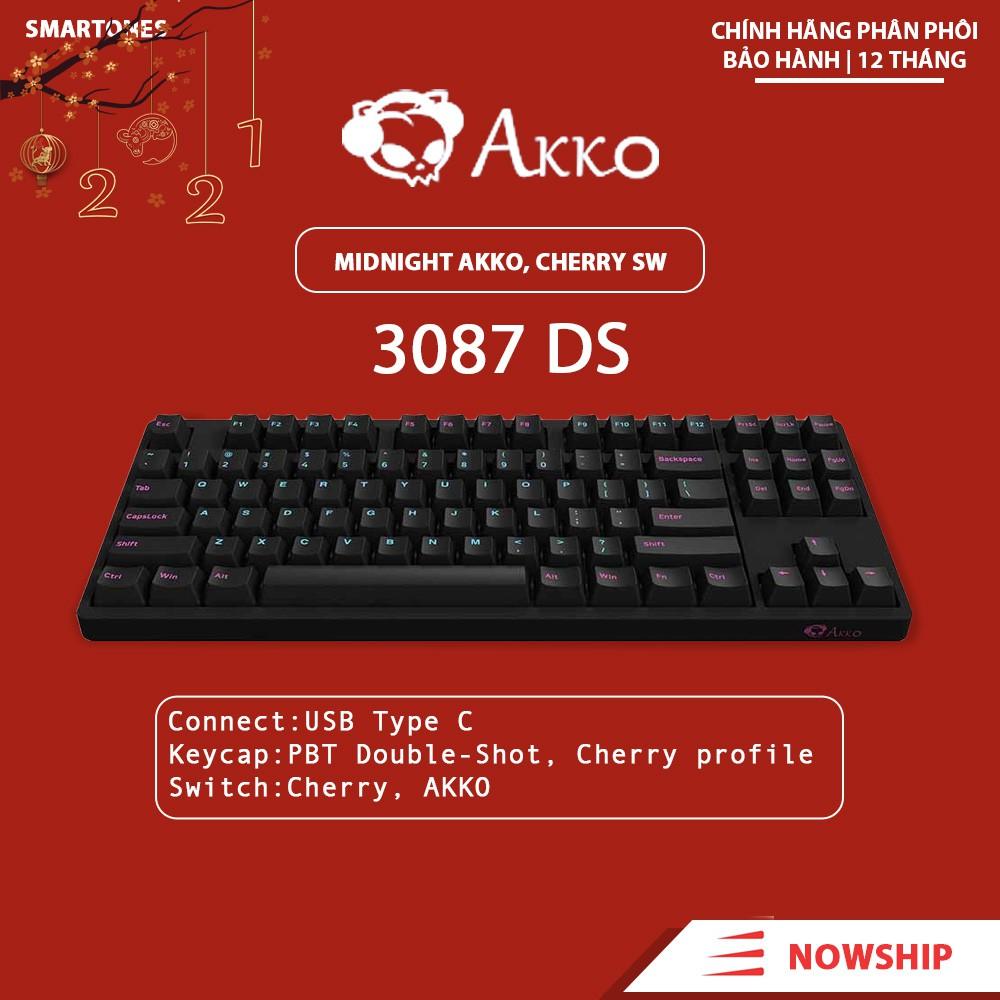 [Mã 88ELSALE hoàn 7% đơn 300K] Bàn phím cơ AKKO 3087 MidNight AKKO Switch và Cherry Switch