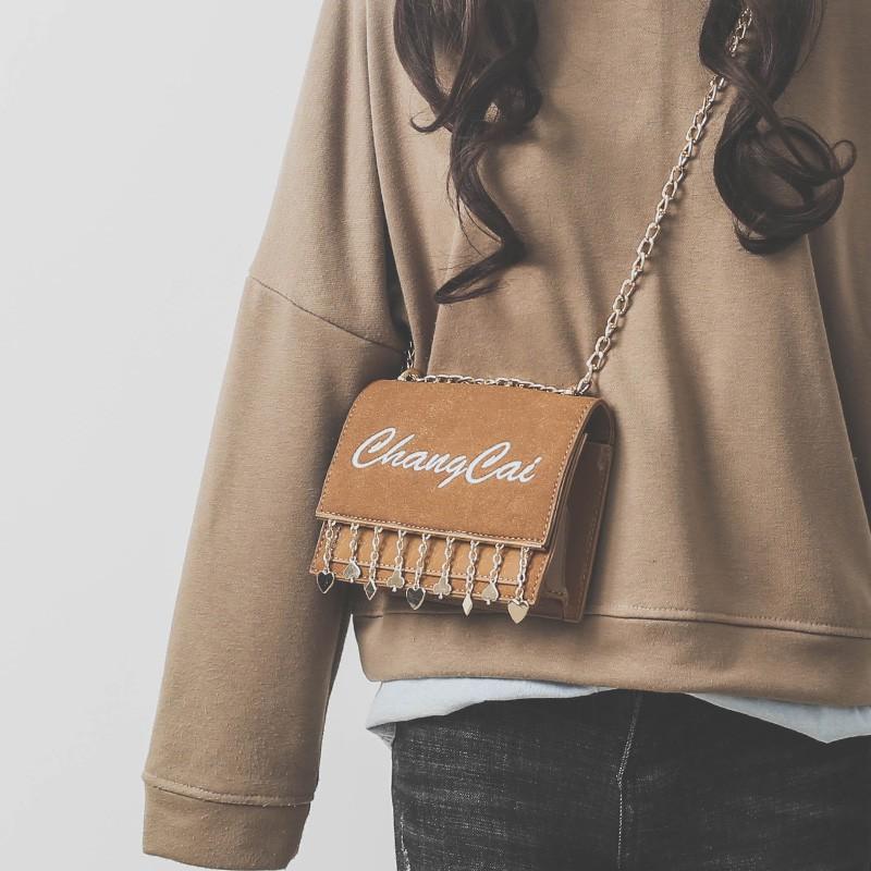 Dynamic youthful shoulder strap chain handbags