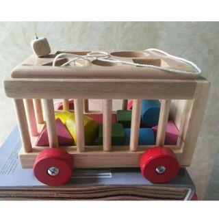 Đồ chơi cho bé – Cũi thả hình bằng gỗ