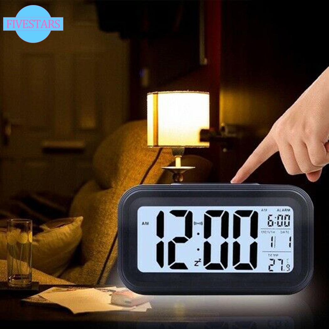Đồng Hồ Báo Thức Kỹ Thuật Số Có Đèn Led Hiển Thị Nhiệt Độ / Ngày / Đêm