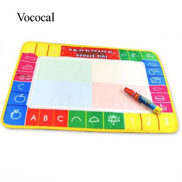 Vococal Novelty Water Drawing Painting Writing Mat Board + Magic Pen Doodle Toy Gift for Kids Childen