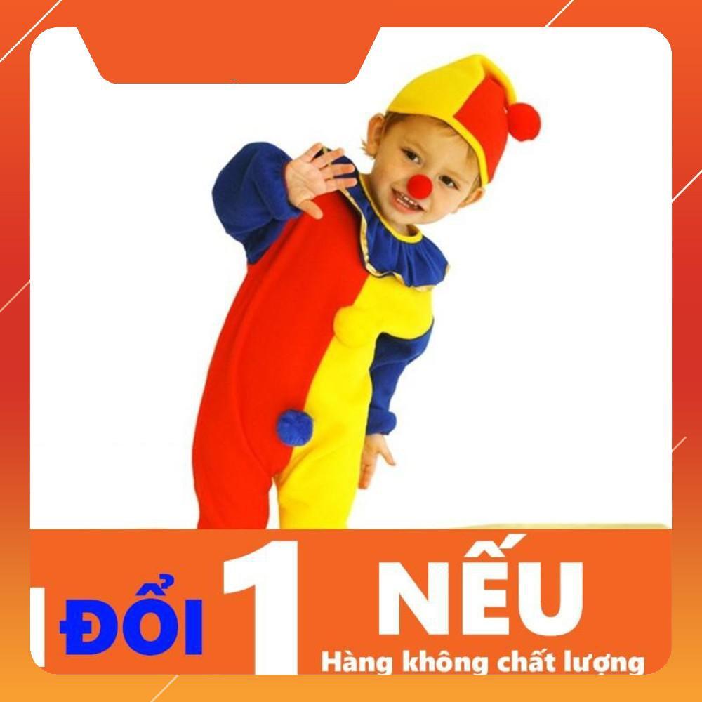 {Giảm 10%} Quần Áo Chú Hề Em Bé Hóa Trang Cao Cấp