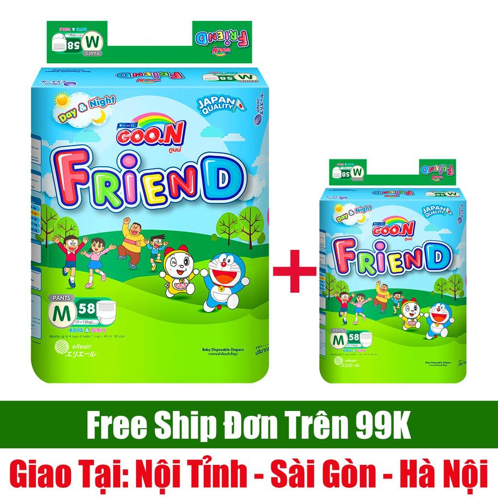 Tã Quần Goon Friend Đủ Size - TẶNG BỊCH NHỎ 5 MIẾNG - S62/M58/L48/XL42/XXL34