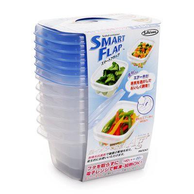 Set 6 hộp nhựa thực phẩm hàng Nhật Bản A-044LB 150ml dùng lò vi sóng