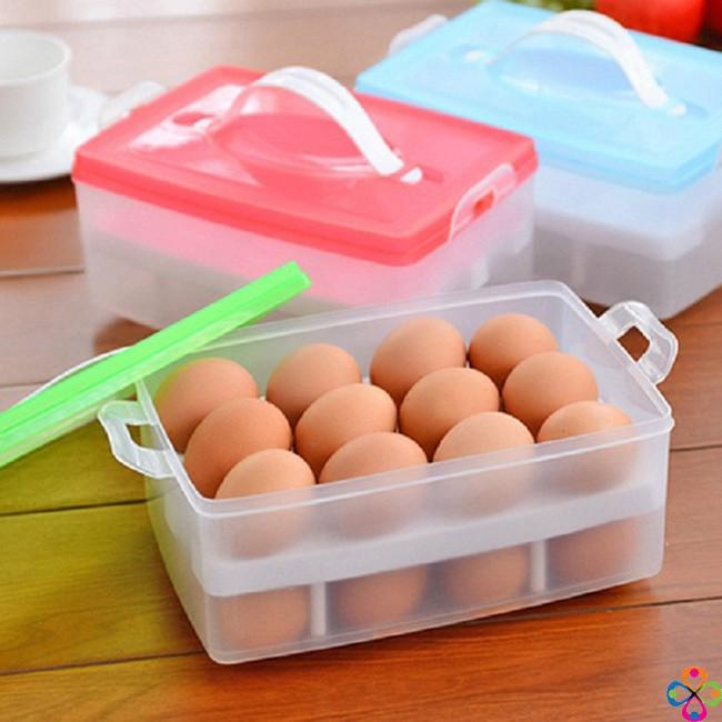 hộp đựng trứng 2 tầng 24 quả-giao ngẫu nhiên