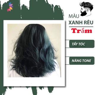 thuốc nhuộm tóc màu RÊU KHÓI TRẦM (TẶng kèm oxy trợ nhuộm + găng tay) thumbnail