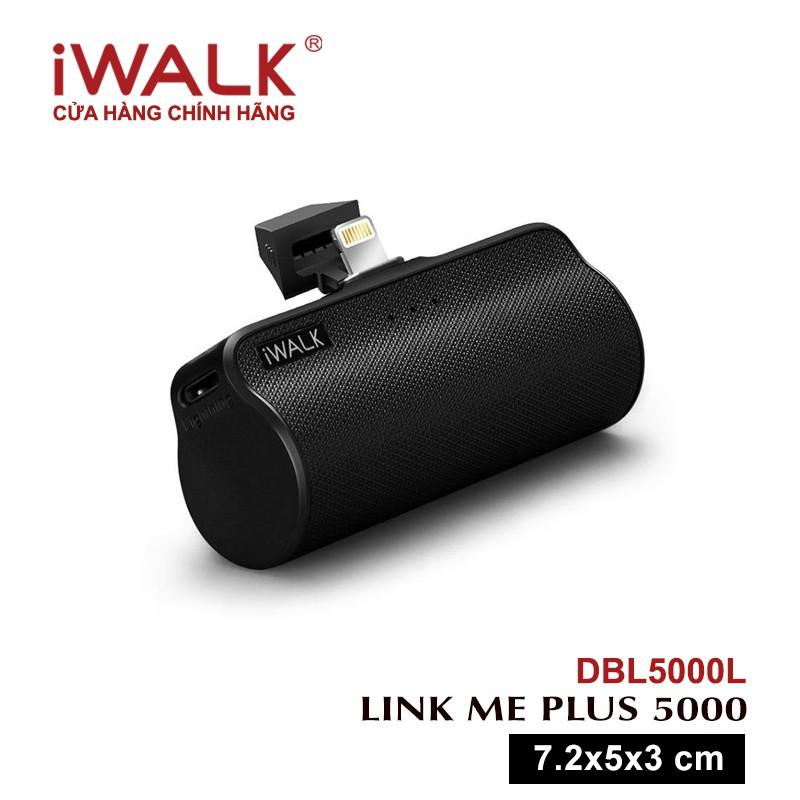Sạc dự phòng iWALK Link Me Plus không cần cáp Lithium ion 3300mAh 5000mAh/3.7V 18.5Wh- DBL5000L