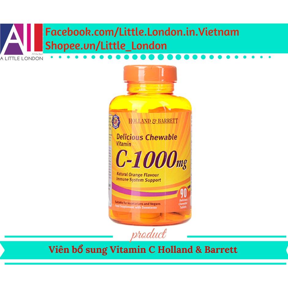 90 Viên bổ sung Vitamin C sáng da, mờ thâm, tăng cường hệ miễn dịch C-1000mg Holland & Barrett (Bill - 2972523 , 980309042 , 322_980309042 , 399000 , 90-Vien-bo-sung-Vitamin-C-sang-da-mo-tham-tang-cuong-he-mien-dich-C-1000mg-Holland-Barrett-Bill-322_980309042 , shopee.vn , 90 Viên bổ sung Vitamin C sáng da, mờ thâm, tăng cường hệ miễn dịch C-1000mg Ho