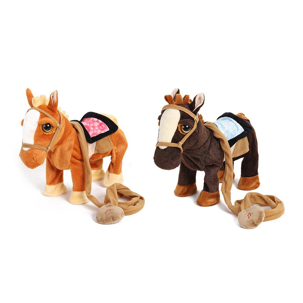 Children's electric plush toy pony will sing and dance simulation horse