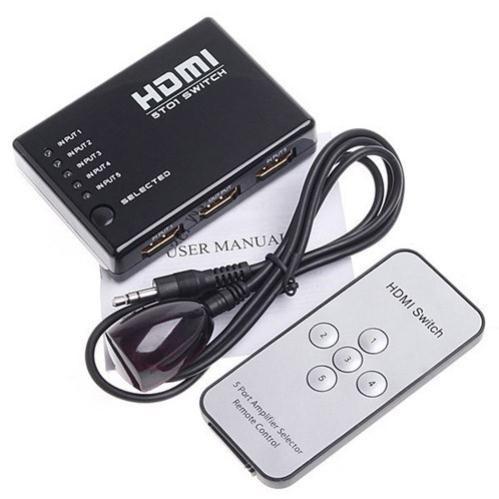 [FREESHIP TOÀN QUỐC] BỘ GỘP 5 CỔNG HDMI RA 1 CỔNG HDMI (5 THIẾT BỊ HDMI DÙNG CHUNG 1 MÀN HÌNH) - CÓ REMOTE